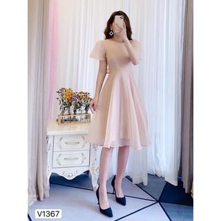 Váy be xòe thắt nơ lưng V1367 - DOLCE VIVA COLLECTION thumbnail
