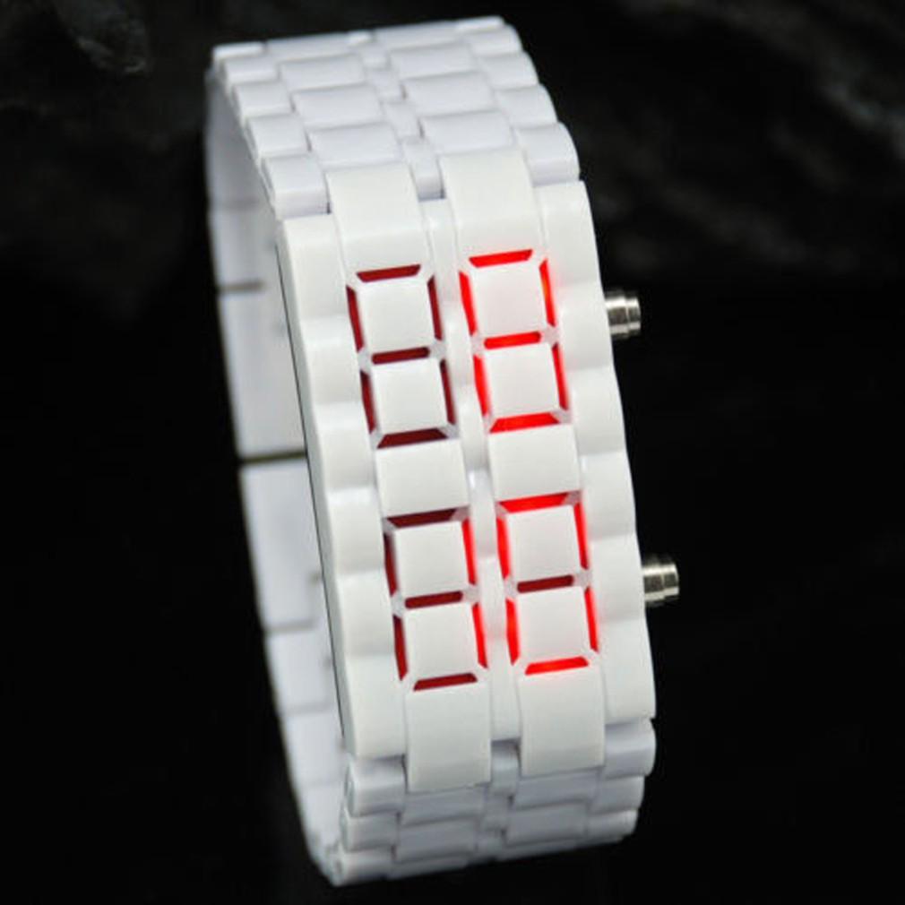LED Digital Samurai Lava Wrist Watch Plastic Sports Style Mens Womens Unisex
