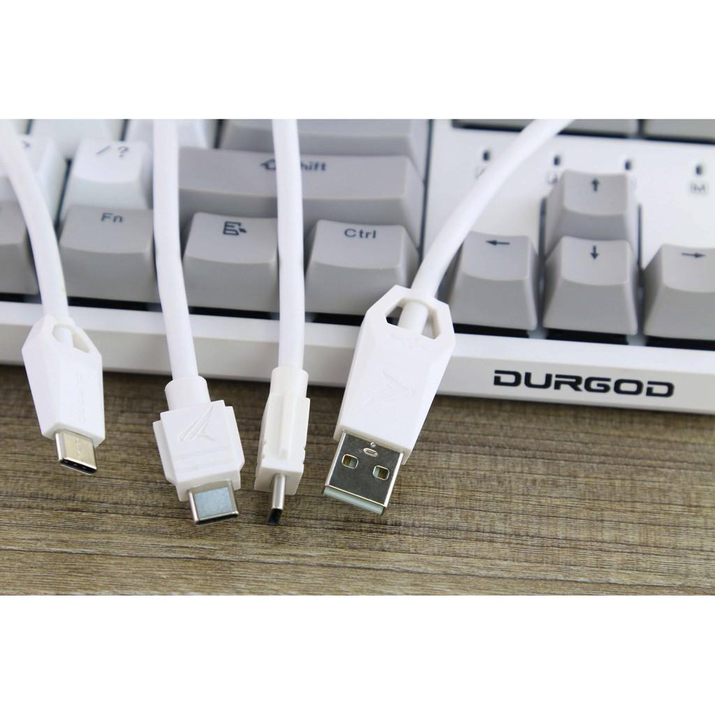 Bàn phím cơ mofii DURGOD K320 Nature White switch Cherry - Chính hãng bảo hành 2 năm