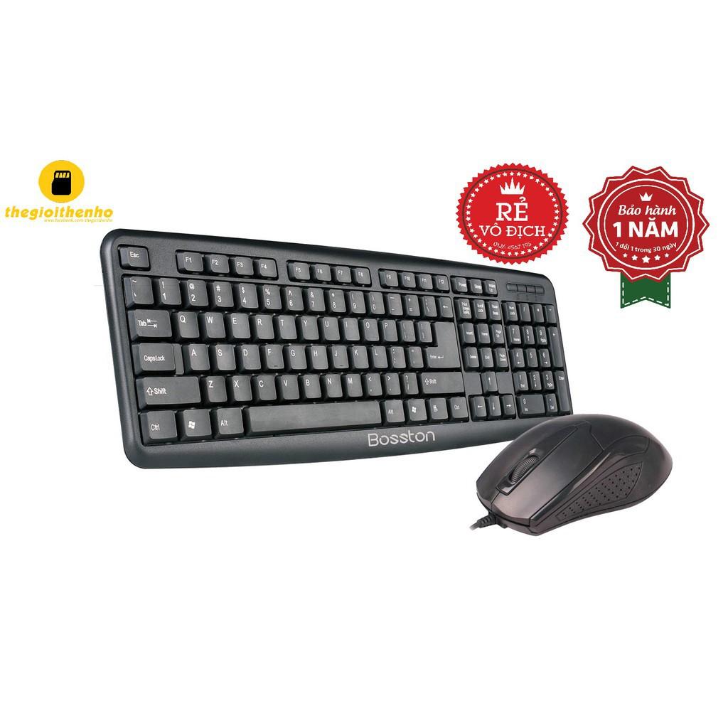Combo Bàn phím + Chuột BOSSTON D5200- BH 12