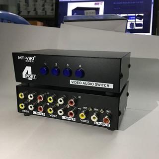 Bộ gộp tín hiệu AV 4 vào 1 ra MT-Viki - AV Switch 4 in 1 out - MT-431AV - Bộ gộp AV 4 vào 1 ra