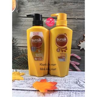 Dầu gội - dầu xả sunsilk Thái Lan Sunsilk Soft & Smooth mềm mượt diệu kỳ màu vàng 450ml  425ml