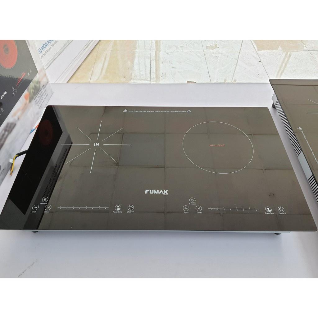 Bếp điện đôi gồm 1 bếp từ, 1 bếp hồng ngoại Nhật Bản hiện đại Fumak, mã  FM-CF2000 chính hãng, bảo hành 24 tháng - Lò sưởi, Bếp từ & Bộ điều
