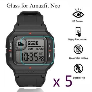 Bộ 5 kính cường lực cao cấp chuyên dụng bảo vệ màn hình cho đồng hồ Amazfit Neo