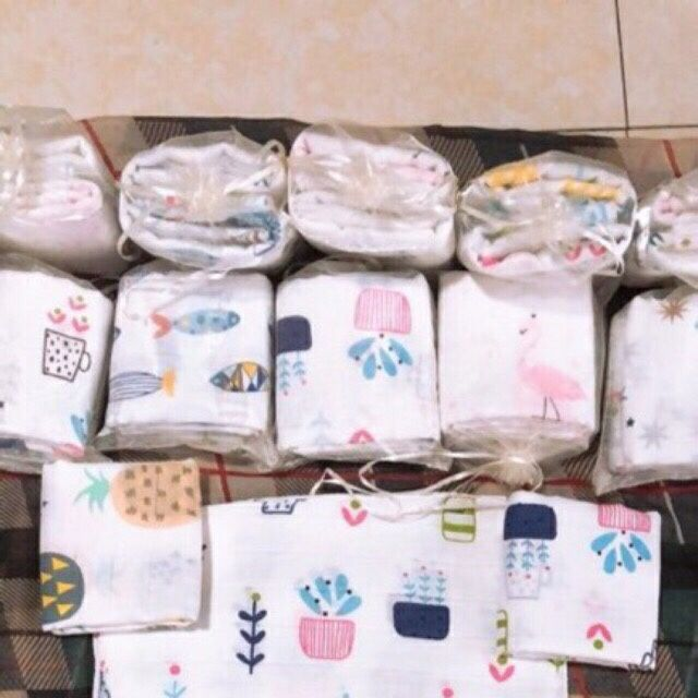 Túi 10 chiếc khăn sữa Aden sợi tre