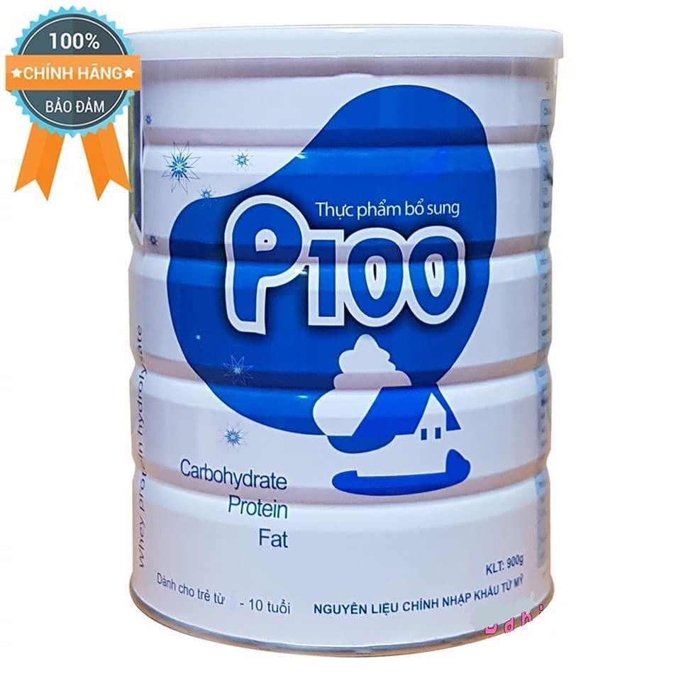 Thực phẩm bổ sung sữa bột P100 - hộp 900g ( 6 tháng đến 10 tuổi)