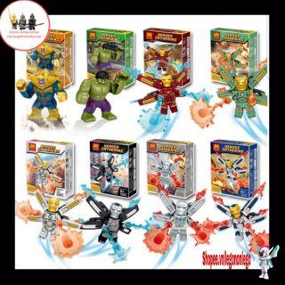 Lego Marvel Minifigure và Bigfig Iron man hãng LELE