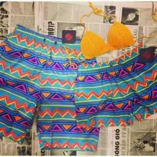 Quần đôi đi biển nam nữ vải dù