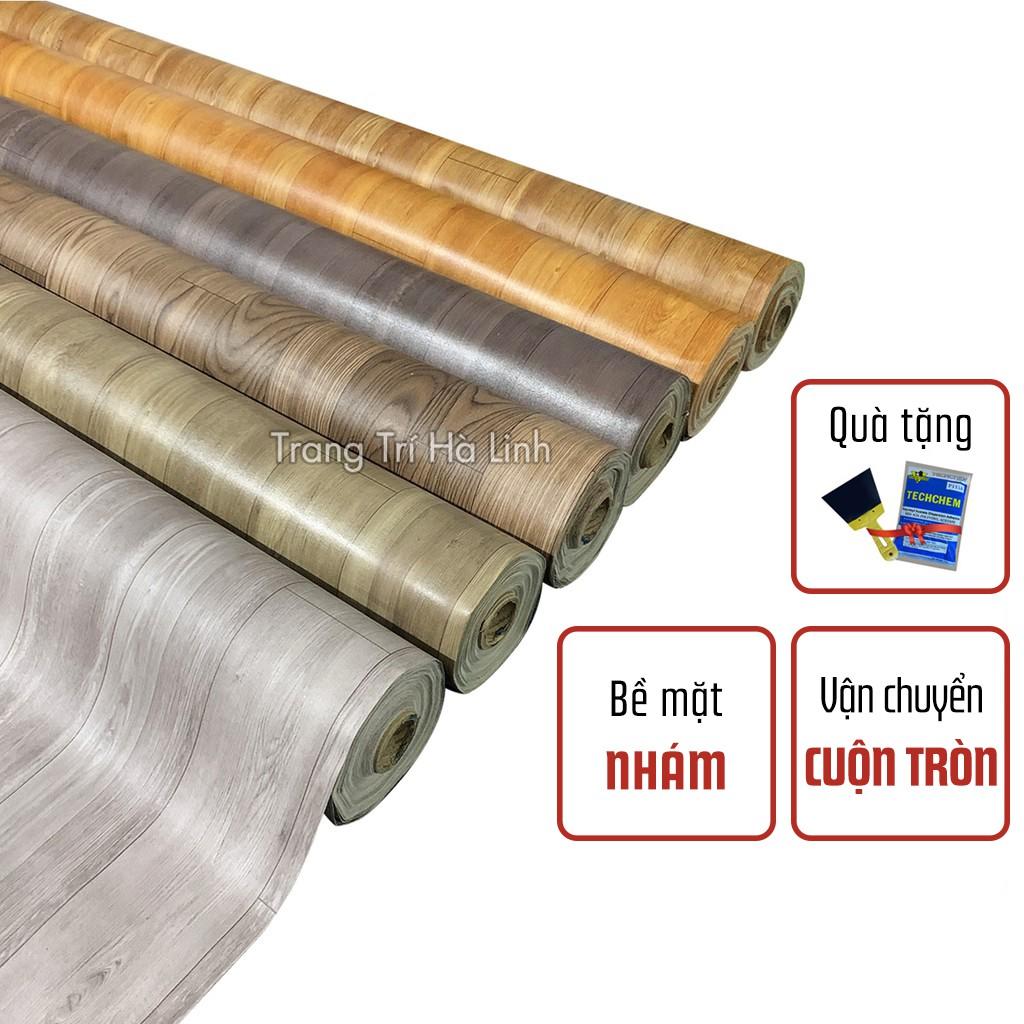 Thảm trải lót sàn simili vân gỗ , tấm simili dán sàn giả gỗ nền nhựa pvc nhám chống trượt dày 0.5mm nhiều mẫu giá rẻ