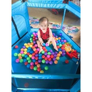 Quây bóng lục giác vải dù khung thép siêu bền dành cho bé trai và bé gái chơi trong nhà - Hàng loại to đẹp thumbnail