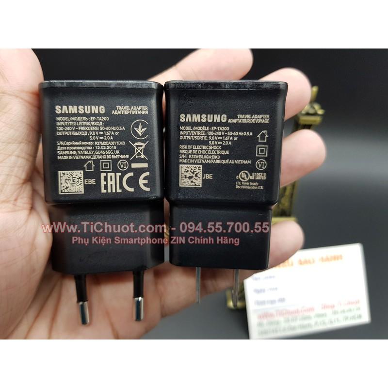 [ZIN Chính Hãng] Củ Sạc Nhanh Samsung TA200 15W 9V-1.67A S10 - Đen Nhám