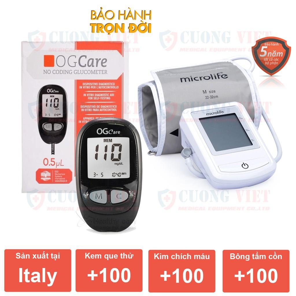 Bộ máy đo huyết áp Microlife BP 3NZ1 và Máy đo đường huyết Ogcare Italy - 14434468 , 2691616653 , 322_2691616653 , 1970100 , Bo-may-do-huyet-ap-Microlife-BP-3NZ1-va-May-do-duong-huyet-Ogcare-Italy-322_2691616653 , shopee.vn , Bộ máy đo huyết áp Microlife BP 3NZ1 và Máy đo đường huyết Ogcare Italy
