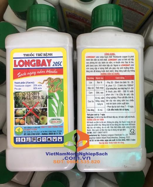 LONGBAY 20SC – THUỐC ĐẶC TRỊ BỆNH LOÉT, THỐI NHŨN, BẠC LÁ TRÊN CÂY TRỒNG 240ml | Shopee Việt Nam