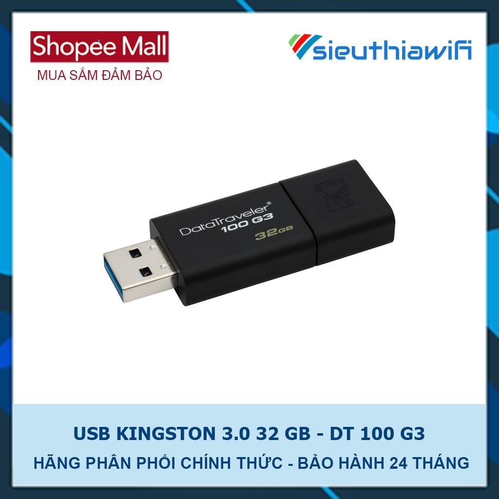 USB 3.0 KingSton 32GB DT100 G3 - HÃNG PHÂN PHỐI CHÍNH THỨC