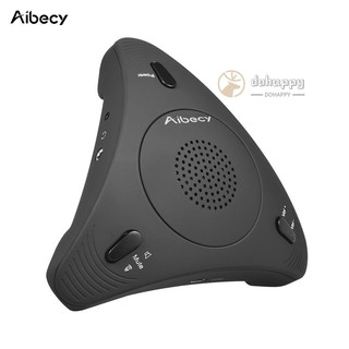 Aibecy USB Desktop Computer Conference Omnidirectional Condenser Microphone Mic Speaker Speakerphone 360° Audio Pickup Plug & Play for Business Video Meeting