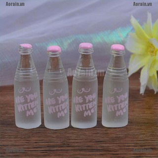 MT 4Pcs 1:12 Dollhouse mini pink drinks bottle for doll house decoration NY