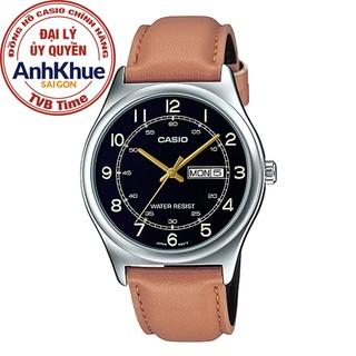 Đồng hồ nam dây da Casio Standard chính hãng Anh Khuê MTP-V006L-1B3UDF (38mm)