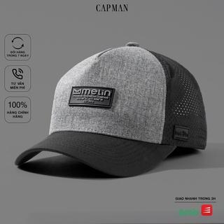 Mũ lưỡi trai CAPMAN chính hãng full box, nón kết nam trucker CM23 màu đen thumbnail