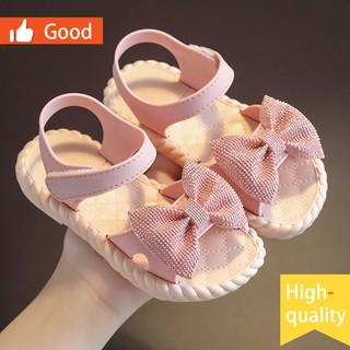 Giày sandals công chúa đi biển hở mũi đế mềm xinh xắn dành cho bé gái