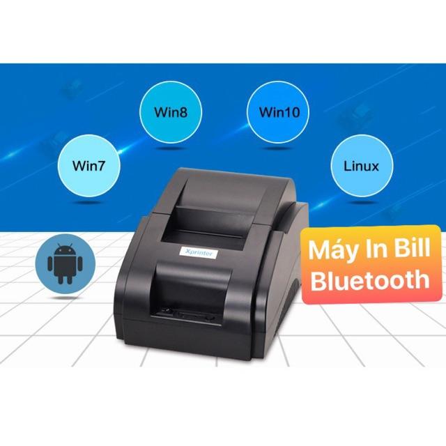 [Mã ELCL05 giảm 5% đơn 500K] Có Video] Máy In Bill XPRINTER XP-58IIH (USB + Bluetooth)