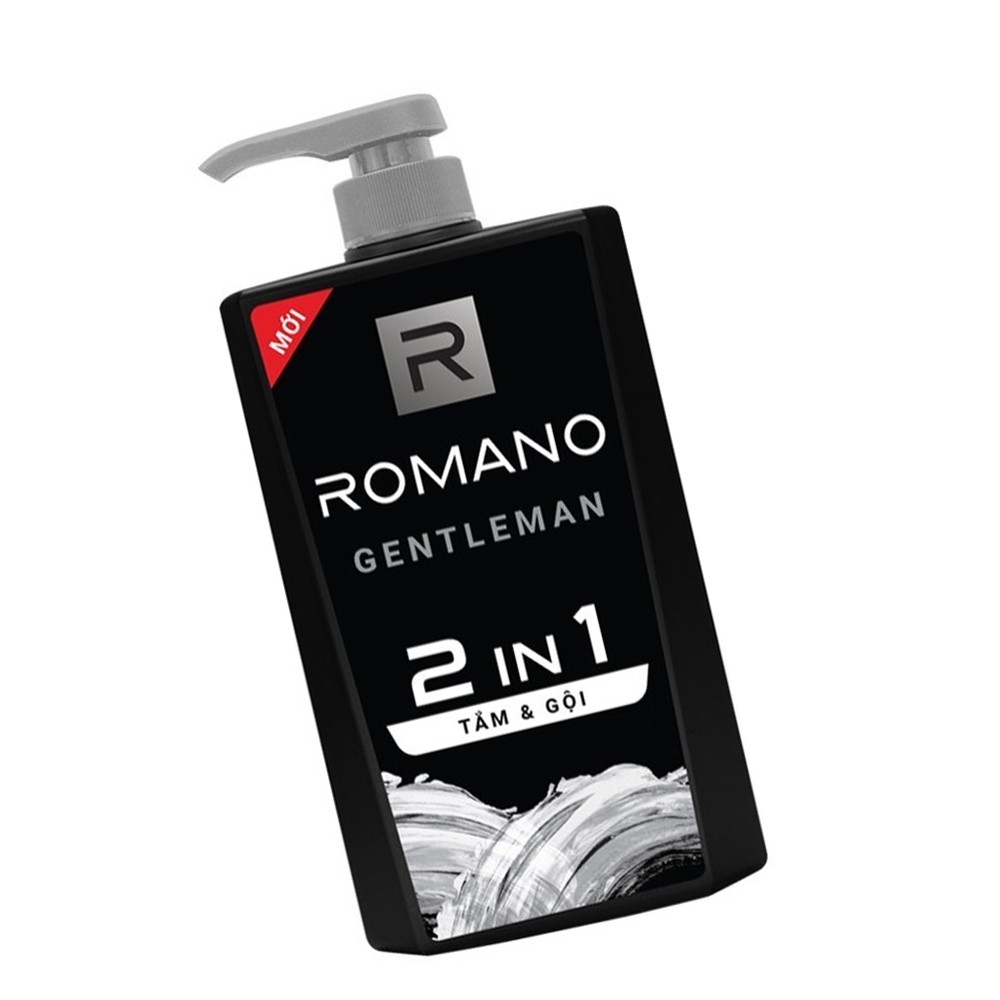 Tắm Gội Romano Gentleman 2 in1 650g (Mới)