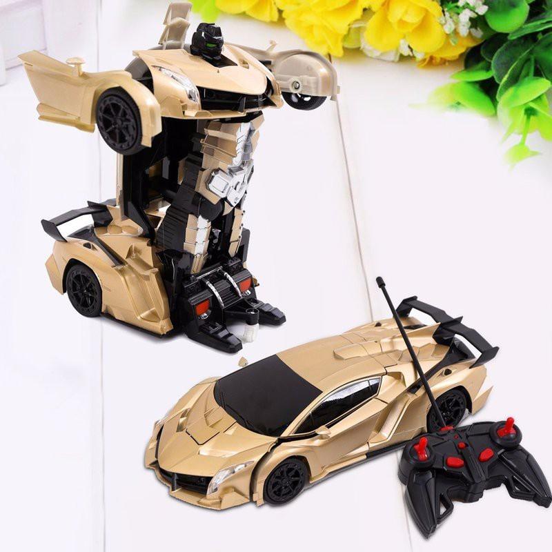 Xe điều khiển biến hình robot: Pin sạc, cảm ứng tay, có đèn