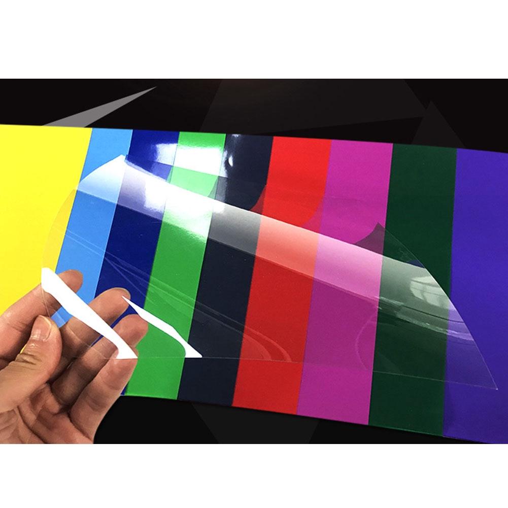 Heat Proof Multifunction Coloured Transparent Lighting Filter Bendable Lightweight Thin PVC Gel Sheet
