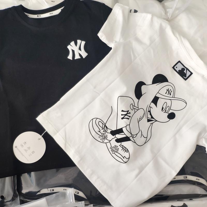 Áo Thun Tay Ngắn In Hình Chuột Mickey Dễ Thương Cho Bé