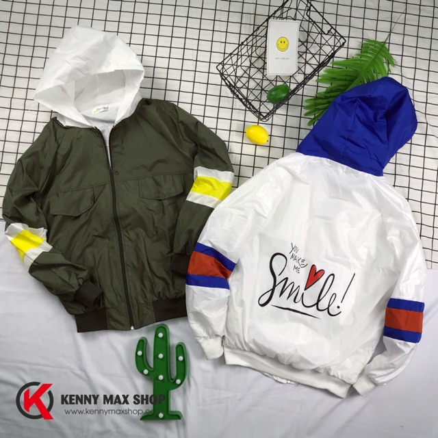 [KennyMaxShop] Áo khoác dù 2 lớp ★ Smile