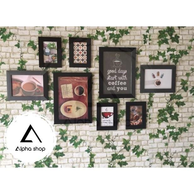 [FREE in ảnh&đinh] Bộ 8 khung ảnh đẹp treo tường trang trí nhà giá rẻ