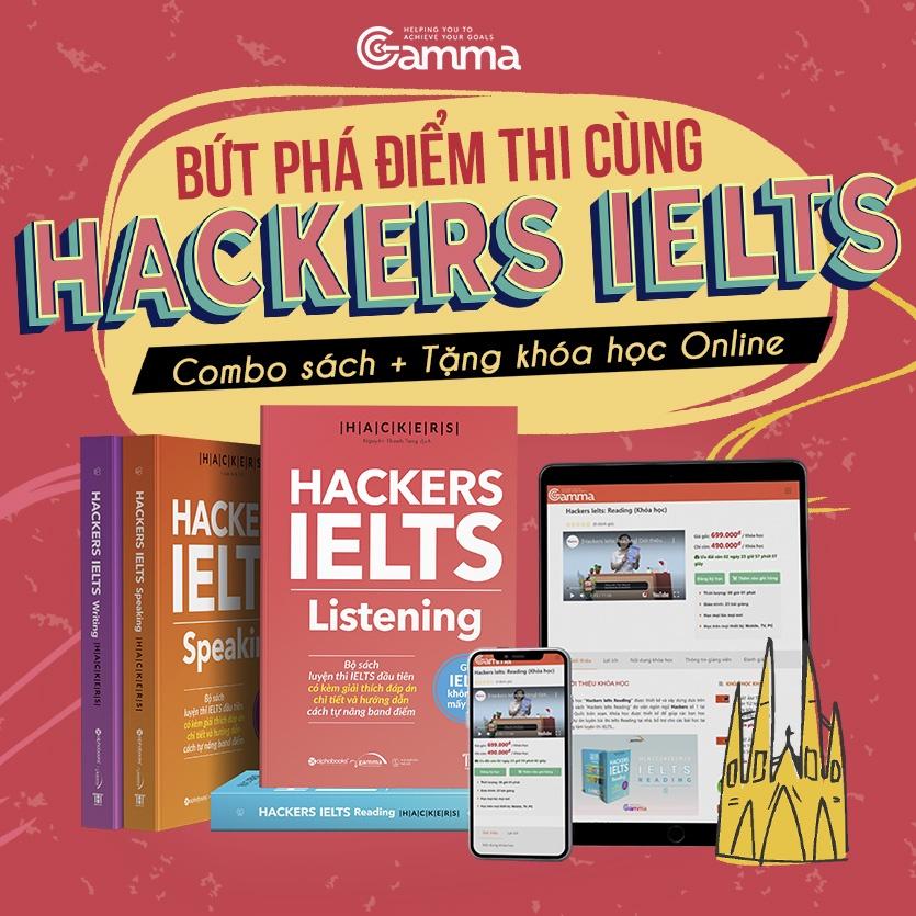 Sách - Hackers IELTS - Bộ 4 cuốn ( Tặng Kèm Khóa Học Online )