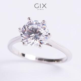 Nhẫn bạc gắn đá CZ 8li lớn mạ vàng trắng cao cấp sang trọng Gix Jewel N48 thumbnail