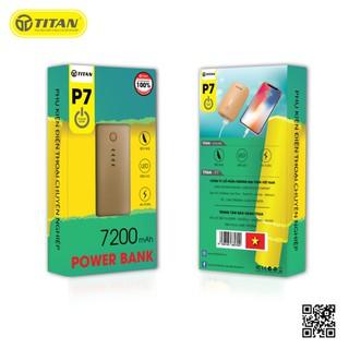 Pin dự phòng P7 TITAN 7200 mAh - Mới 100% thumbnail