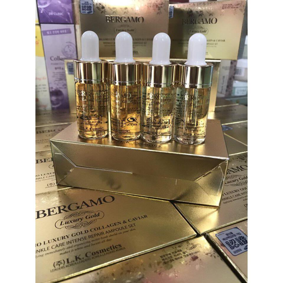 Serum Bergamo Luxury Gold Collagen – Căng da sáng mịn