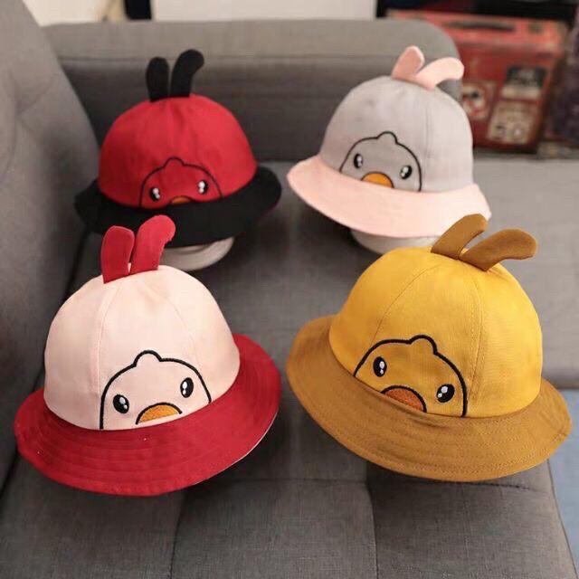 Mũ Tai Bèo Hình Vịt Siêu Kute Cho Bé trai/Bé gái - Nón Vành Tròn Cho Bé