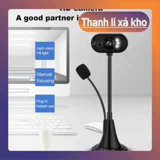 (Thanh lý) Webcam HD 12M kèm mic có thể xoay cho máy tính cho Skype/TV Android