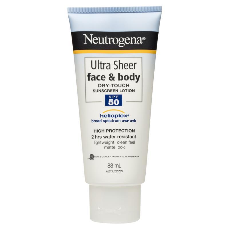 Kem chống nắng Neutrogena Ultra Sheer Face và Body Dry Touch Sunscreen Lotion SPF50 88ml