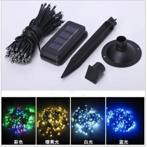 Dây đèn LED 100 bóng tự động chạy bằng năng lượng mặt trời (đủ các màu)