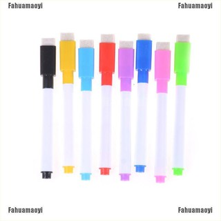 Fahuamaoyi 5pcs Colourful Dry Wipe Board Window Markers Pens With Eraser Office Supply