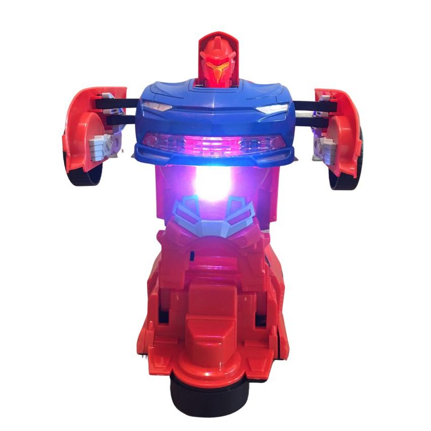 Đồ Chơi Biến Hình Robot Captain Phát Nhạc Phát Sáng Siêu Cấp Di Chuyển Tránh Vật Cản