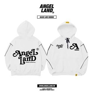 Áo hoodie Basic Line-trắng Angel-Land Chính hãng Unisex thumbnail