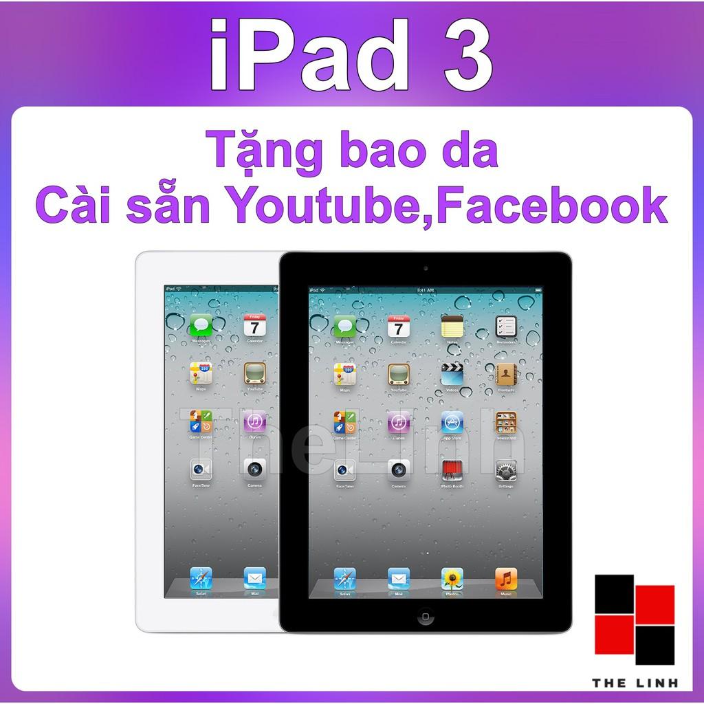 Máy tính bảng iPad 3 chính hãng APPLE - Tặng Bao Da SmartCover