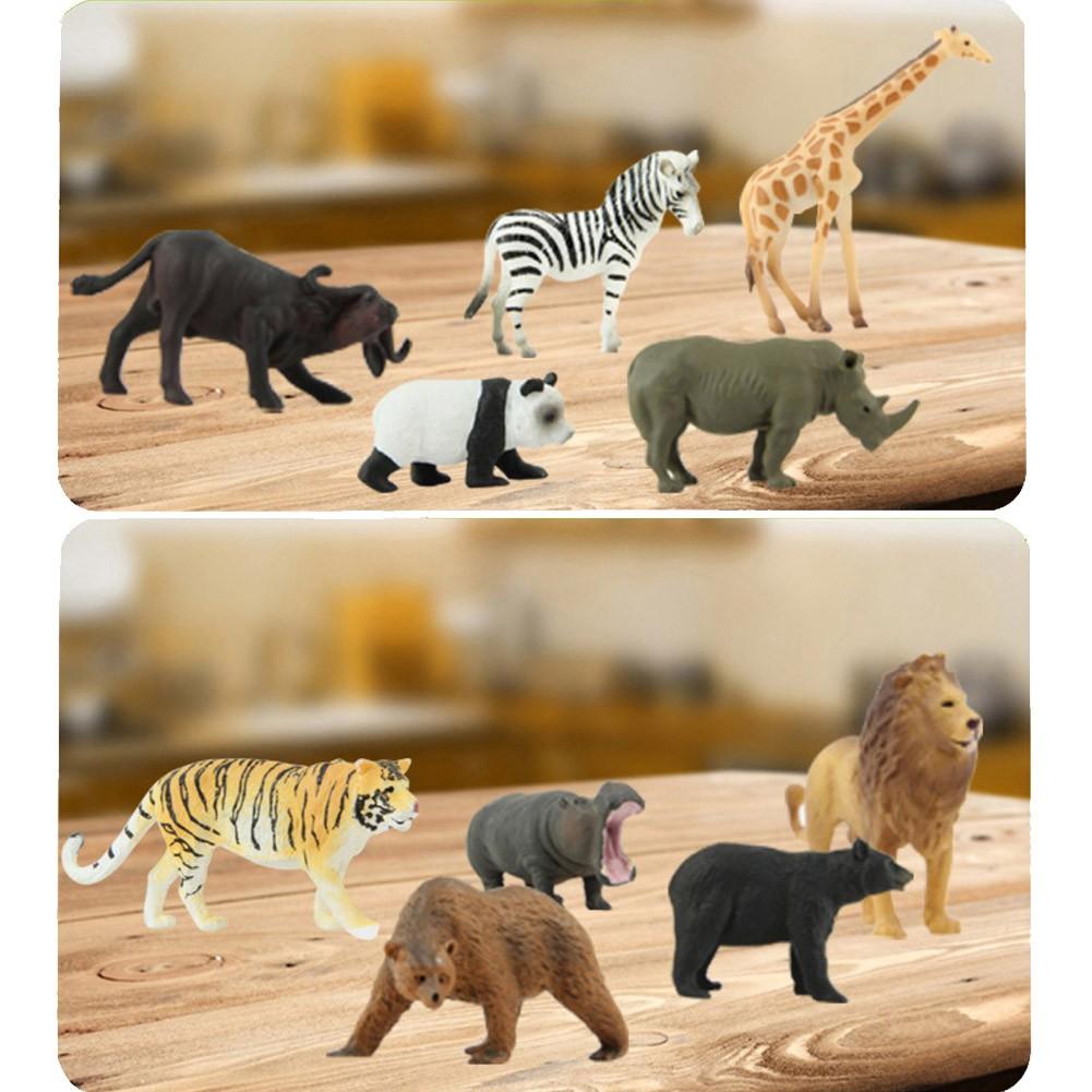 Simulated Solid Animal Model Children Marine Life Dinosaur World Toy 12PCS