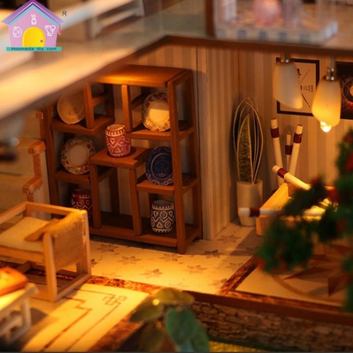 Mô hình nhà gỗ DIY - nhà trong Phố cổ
