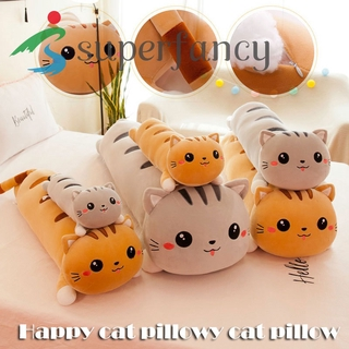 ready stock Happy Cat Plush Toy Cute Cat Pillow Children's Toys Birthday Gift Durable