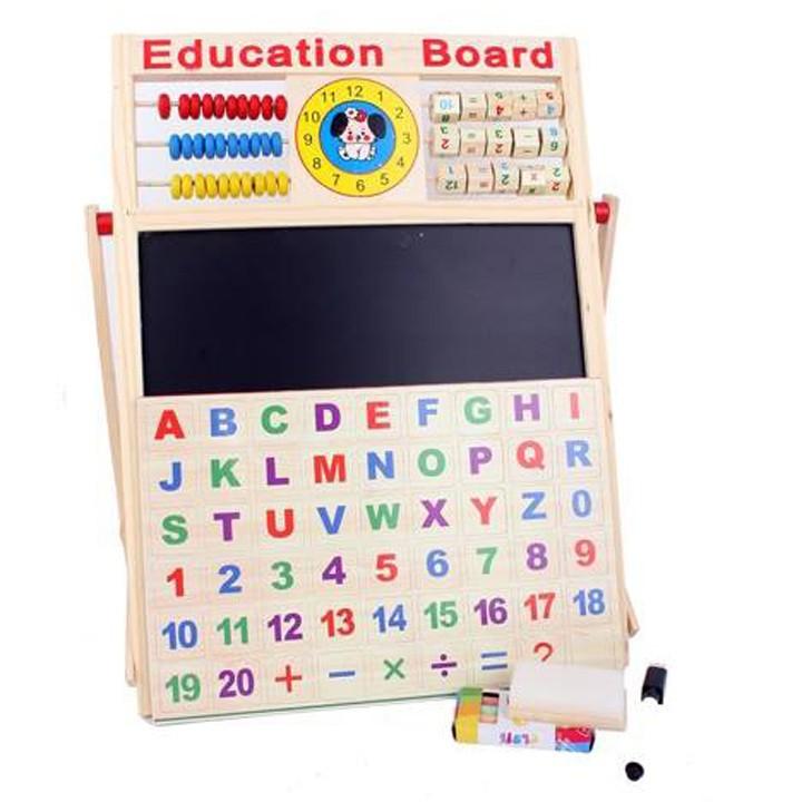 [BÁN CHẠY] Bảng Từ 2 Mặt Education Board Và Bộ Số Kèm Bảng Gỗ Có Núm Phương Tiện Tiện Dụng