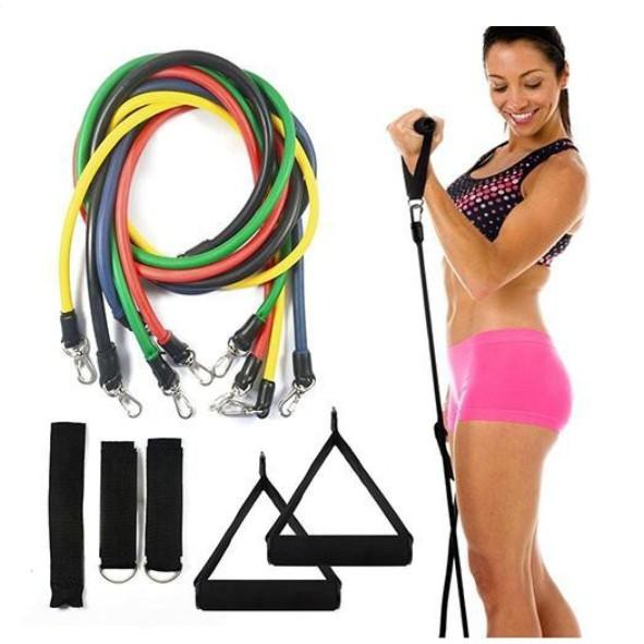 Siêu sốc Siêu rẻ Bộ 5 dây ngũ sắc đàn hồi tập thể hình cao cấp - dụng cụ tập gym - thể thao 5.0,Tập Full Body Free ship