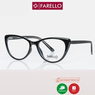 Gọng kính cận nữ FARELLO nhựa bọc kim loại, mắt mèo , nhiều màu - CATEY Y8013