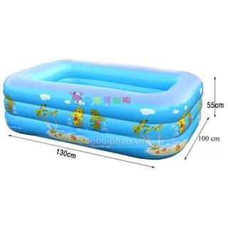 bể phao bơi trẻ em hình chữ nhật 1m3