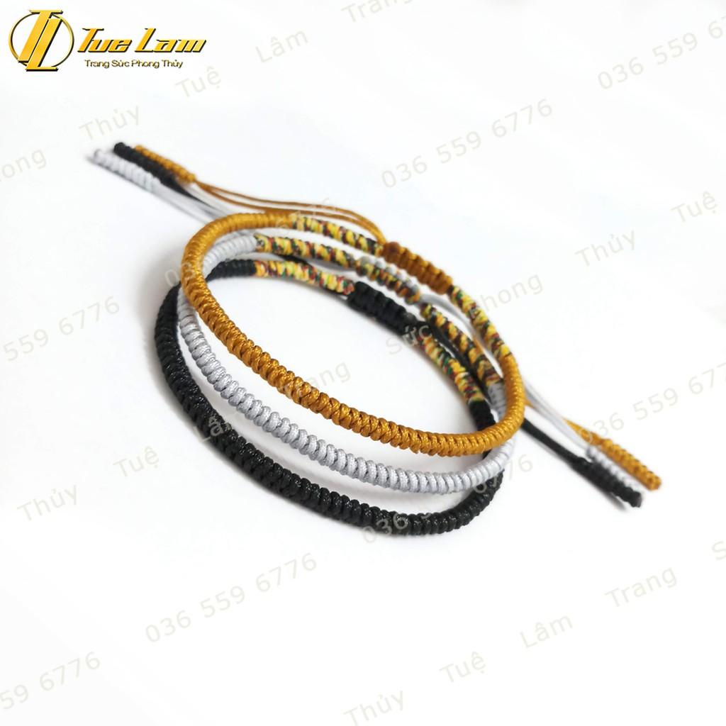 [DIY bracelets] Vòng Tay Set 3 vòng chỉ tibets Tây Tạng Màu Vàng Đen Xám